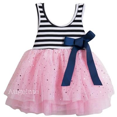 【baby童衣】條紋背心紗紗連衣裙 32052