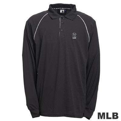MLB-紐約洋基隊LOGO排汗POLO衫-深灰(男)