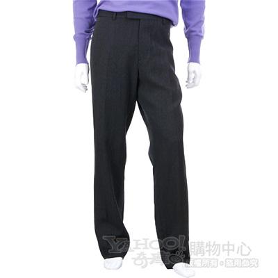 BOSS 深灰色直條織紋西裝褲
