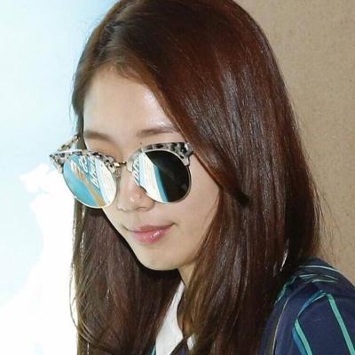 GENTLE MONSTER太陽眼鏡 韓系圓框/花崗紋-水銀#MOON CUT WD1
