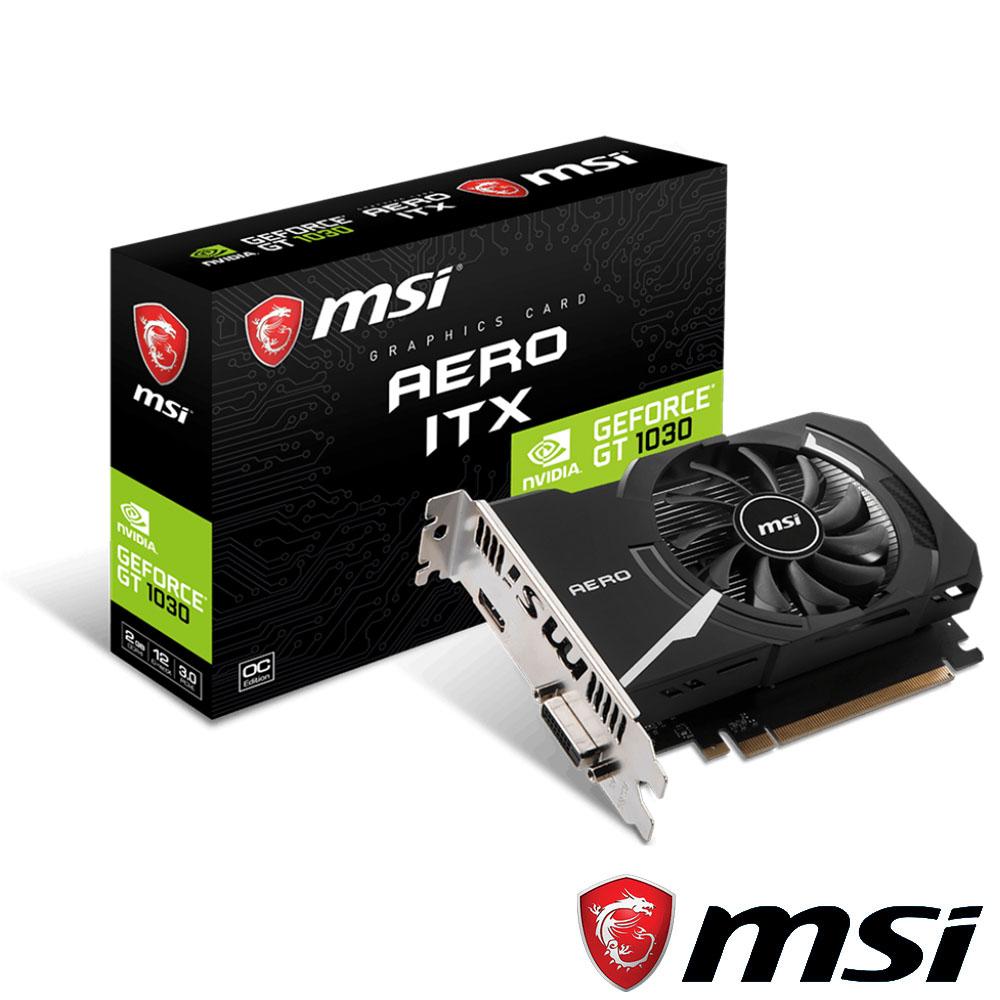MSI微星 GeForce GT 1030 AERO 2GD4 OC 顯示卡