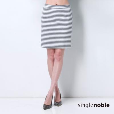 獨身貴族-顯瘦感條紋窄裙-2色