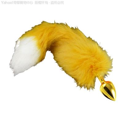 CICILY-可愛小松鼠 金屬後庭塞-金(毛毛松鼠尾巴)(快速到貨)