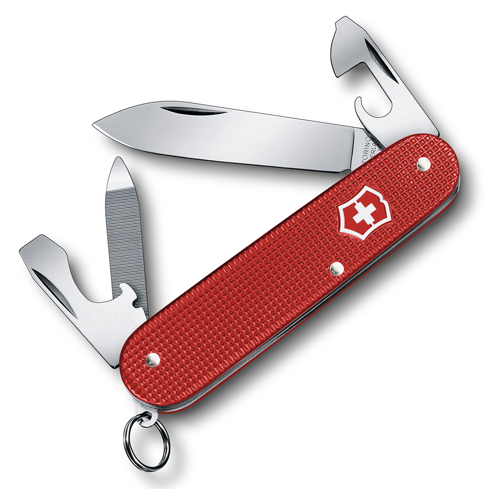 VICTORINOX 瑞士維氏ALOX限量金屬殼9用瑞士刀-莓果紅