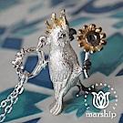 Marship 日本銀飾品牌 向日葵與鸚鵡項鍊 925純銀 K金X亮銀款