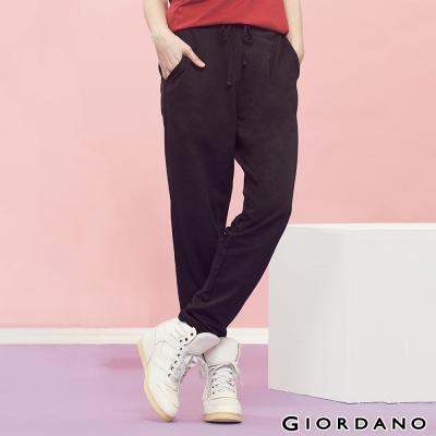 GIORDANO-女裝腰頭綁帶鬆緊運動棉褲-01經