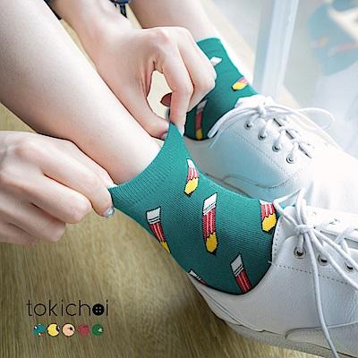 東京著衣 多色可愛繽紛花色短襪(共五色)