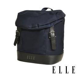 ELLE 時光旅人系列-大容量10吋IPAD直式休閒手提/斜背包-午夜藍