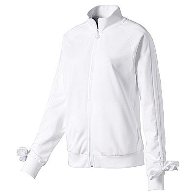 PUMA-女性流行系列蝴蝶結立領外套-白色-歐規