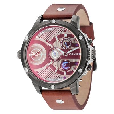 POLICE  飛躍太陽系時尚雙時區腕錶-15049JSU-12-52mm