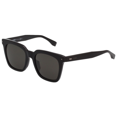 FENDI  方形 修臉 太陽眼鏡 (黑色)FF0216FS