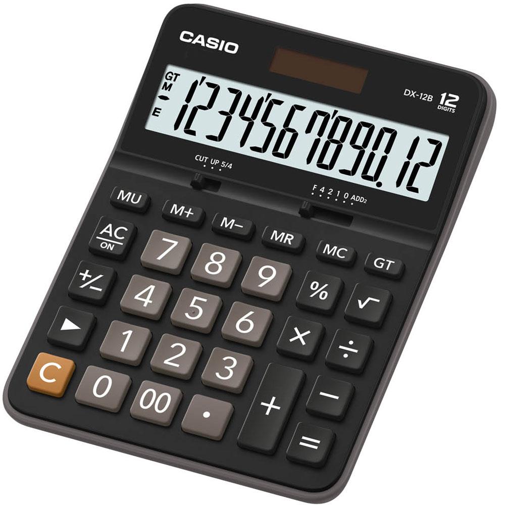 CASIO卡西歐12位元商務系列計算機-黑X灰色( GX-12B ) .