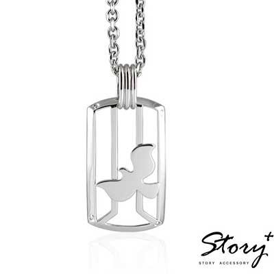 STORY故事銀飾-比翼鳥II - 飛行少年925純銀項鍊