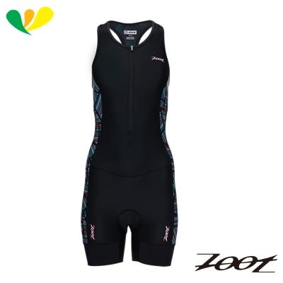 ZOOT-專業級肌能連身鐵人衣-女-線彩黑-Z1706011