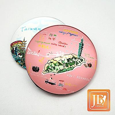 JB DESIGN-文創玻璃磁鐵-544_哇!台灣粉