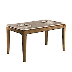 AT HOME-蒂娜4.3尺大理石面鐵藝餐桌(130*78*75cm)