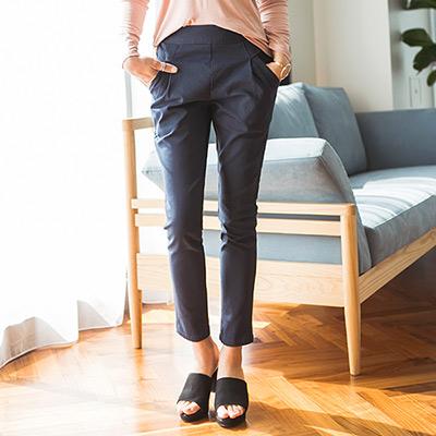 正韓 鬆緊腰圍造型口袋休閒長褲 (共六色)-N.C21