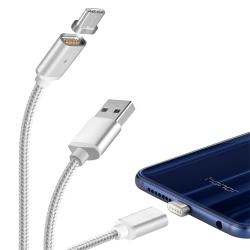 Moizen Type C USB 磁吸充電線 傳輸線 雙金屬接頭 高質感編織線 磁力線
