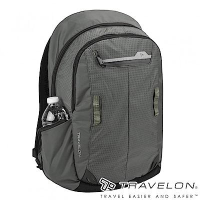 Travelon美國防盜包 防割鋼網旅行運動系列後背包TL-43129Z1岩灰16