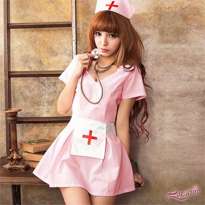 護士服 柔嫩天使溫情護士服三件組(粉紅F) Lorraine