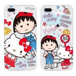 GARMMA 小丸子X Kitty iPhone 7/8+ 空壓氣墊軟殼