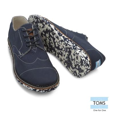 TOMS 英國學院牛津鞋-男款(丹寧藍)