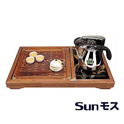SUNMOSU智慧型全自動補水泡茶機S-618AI +原木茶盤組