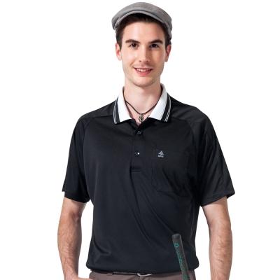 【SPAR】吸濕排汗男版短袖POLO衫(SP48283)黑色