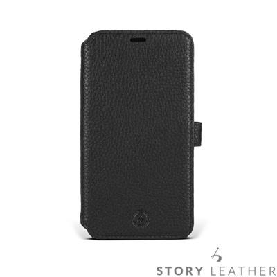 STORYLEATHER iPhone X 硬殼式側翻 荔枝紋黑現貨皮套