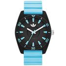 adidas 極致色彩時刻時尚限量版腕錶-黑x粉藍/40mm