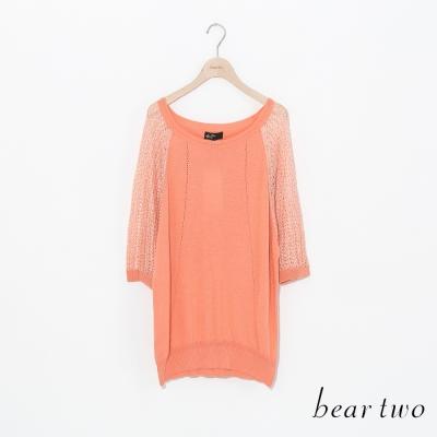 beartwo-縷空勾織透膚感造型針織衫-二色