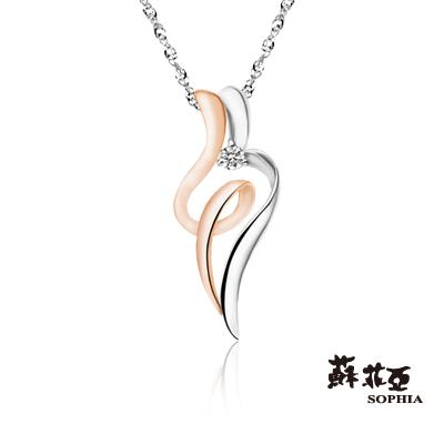 蘇菲亞SOPHIA 鑽石項鍊-sweet heart系列0.02克拉雙色鑽石項鍊