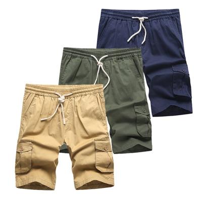 美國熊 立體感多口袋 水洗面料‧抽繩工作短褲