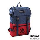 Royal Elastics - 撞色潮流休閒後背包 Light輕盈羽量系列 -藍/紅