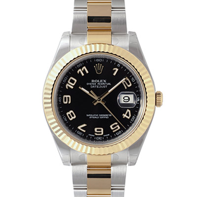 ROLEX 勞力士 116333 蠔式恆動日誌型腕錶-黑/數字面/41mm
