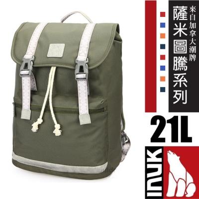 【加拿大 INUK】薩米圖騰 C4C 潮牌人體工學避震背負後背包21L_橄欖綠