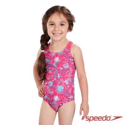 SPEEDO 幼童 女 休閒連身泳裝 Seasquad AL 粉紅