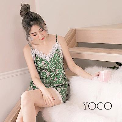 東京著衣-yoco 夢幻女孩浪漫印花睡衣兩件式套裝-S.M.L(共一色)