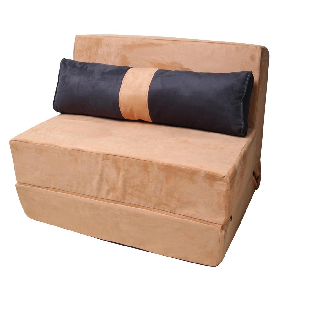 H&D 超級厚片土司造型沙發床-駝色