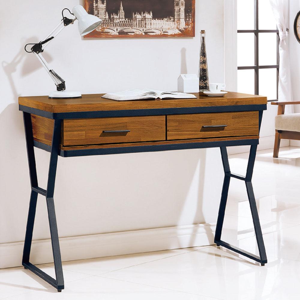 品家居 海彎3.5尺工業風書桌-105x60x81cm-免組