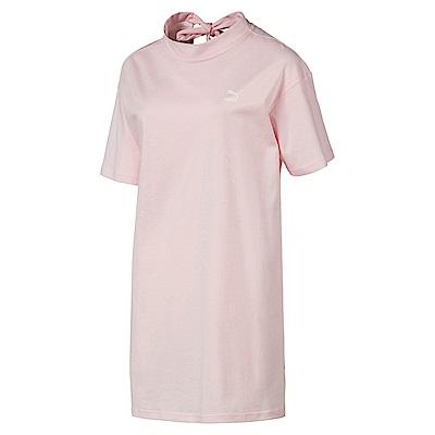 PUMA-女性流行系列蝴蝶結短袖T恤-珍珠色-歐規