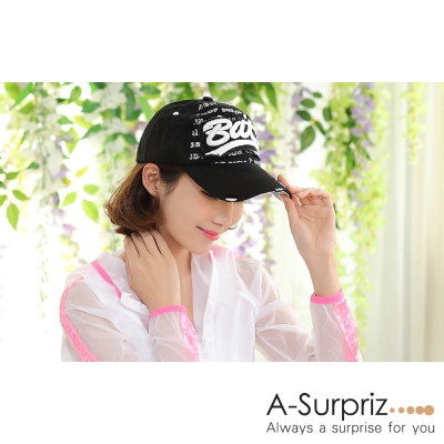 A-Surpriz Bat字母棒球帽(氣質黑)