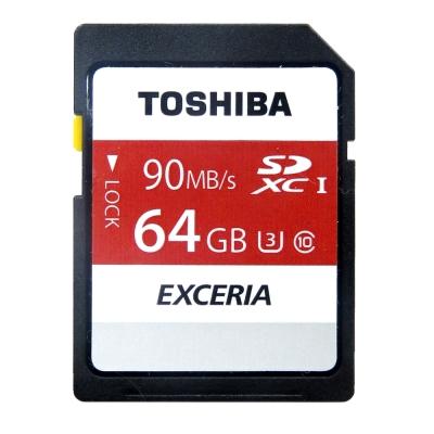 TOSHIBA 64GB UHS-I SDHC/SDXC 90MB高速傳輸記憶卡