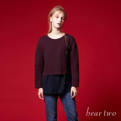 beartwo 童趣徽章拼接造型上衣(二色)