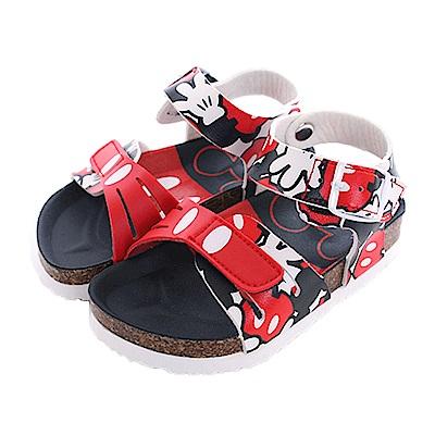 迪士尼米奇魔鬼貼涼鞋 黑紅 sk0410 魔法Baby