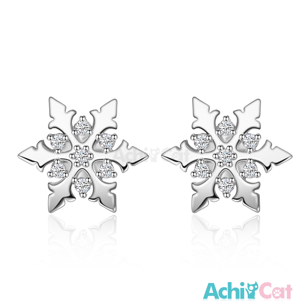 AchiCat 925純銀耳環 冰雪天地 純銀耳針
