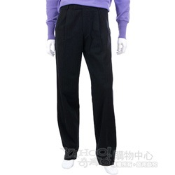BOSS 黑色抓褶條紋休閒長褲