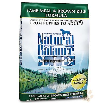 Natural Balance 低敏羊肉糙米全犬配方 28磅