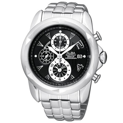 ALBA MISSING U系列奇幻計時限量腕錶(AF8P53X)-黑/43mm