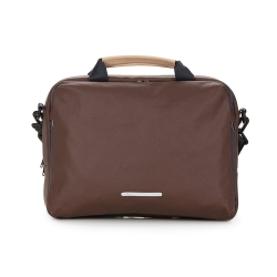 RAWROW-帆布系列-13吋三用簡約休閒包(手提/肩背/側背)-深棕-RBF120BR